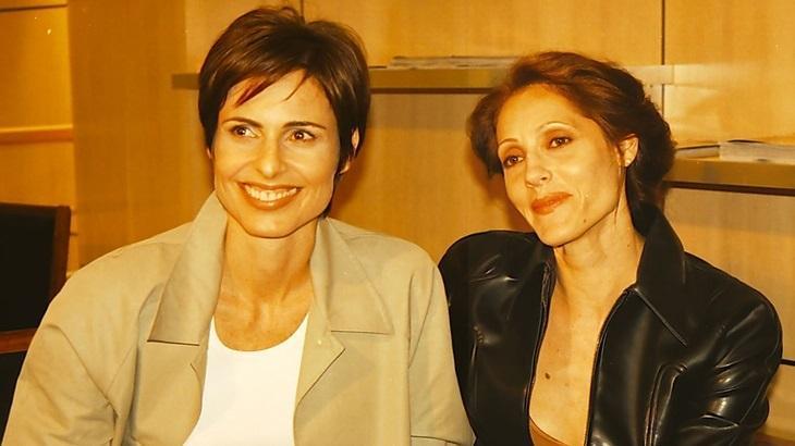 Silvia Pfeifer e Christiane Torloni como Leila e Rafaela em Torre de Babel, novela de 1998 disponível no Globoplay