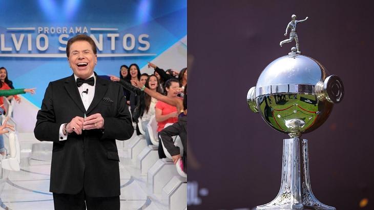 Silvio Santos e taça da Libertadores