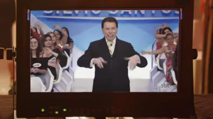 Silvio Santos na vinheta do SBT