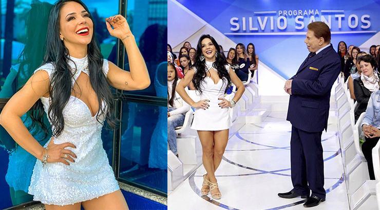 """Coreógrafa do SBT desbanca Helen Ganzarolli com Silvio Santos: \""""Ela deve ter um ciuminho\"""""""
