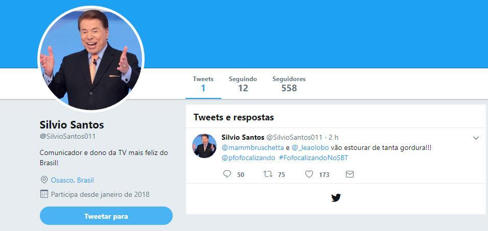 É oficial: Silvio Santos cria perfil no Twitter e entra nas redes sociais