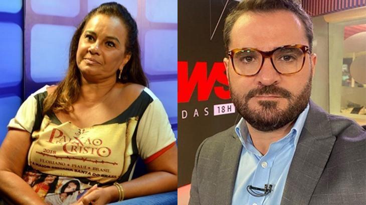 Solange Couto (à esquerda) e Marcelo Cosme (à direita) em foto montagem
