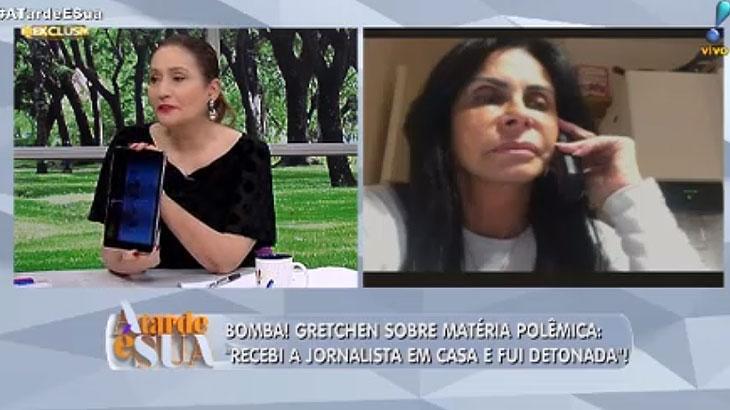 """É guerra: Sônia Abrão derruba pauta do \""""Fofocalizando\"""" e fala ao vivo com Gretchen"""