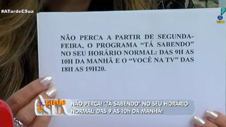 Thiago Rocha se surpreende ao saber de mudança do seu programa por Sonia Abrão