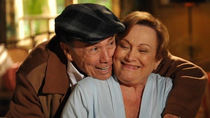 Stênio Garcia e Nicette Bruno em cena da novela A Vida da Gente, que será reprisada na Globo