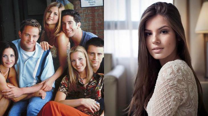 Camila Queiroz e elenco de Friends em foto montagem