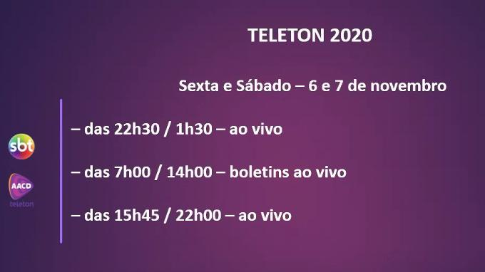 Teleton 2020 será mais curto, 90% remoto e não terá meta