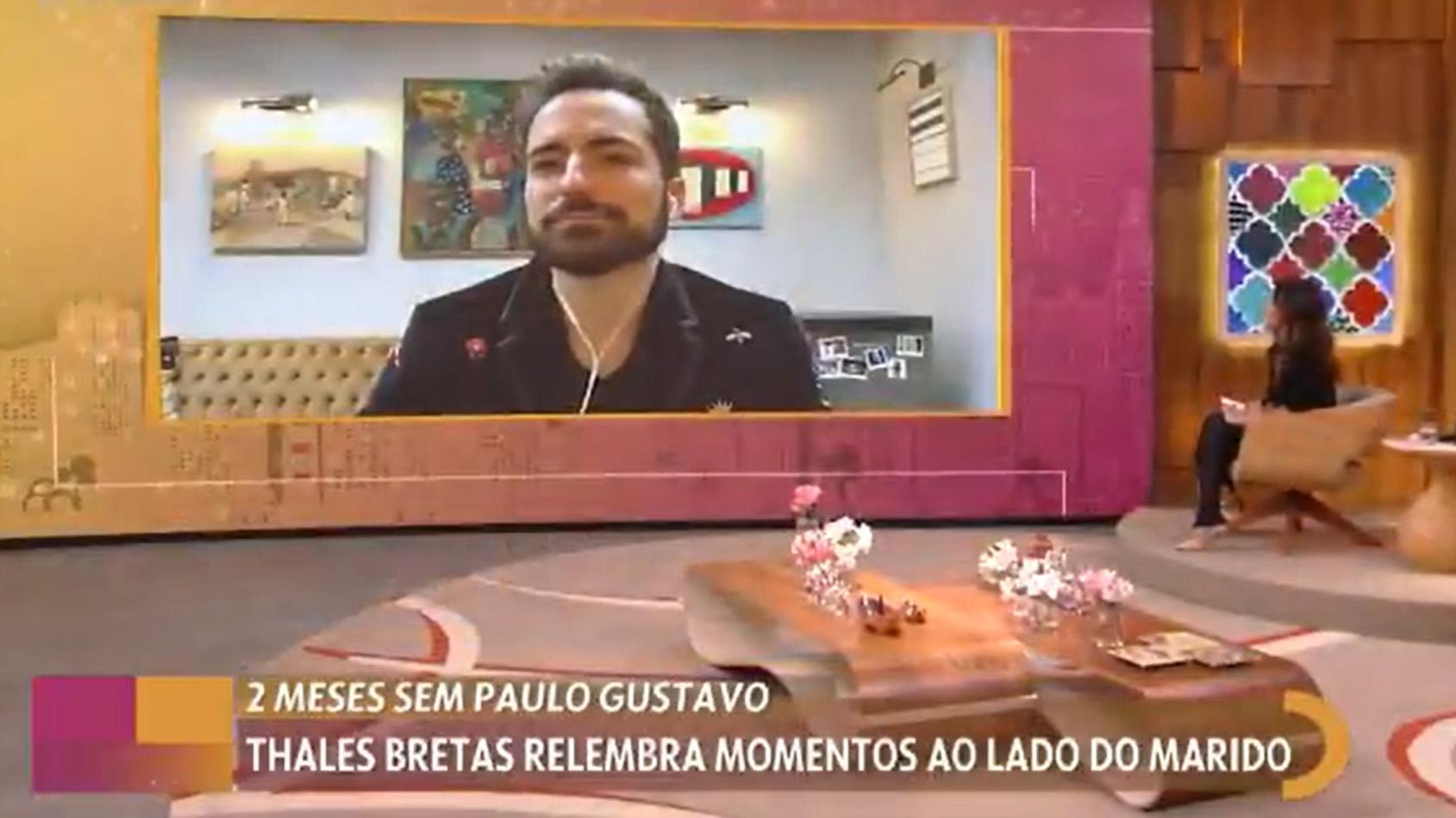 Thales Bretas no Encontro com Fátima Bernardes