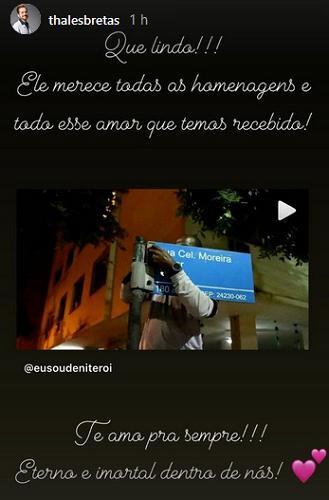 Viúvo de Paulo Gustavo se manifesta sobre placas de rua com o nome do ator