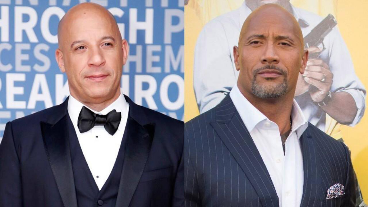 Vin Diesel e The Rock de terno