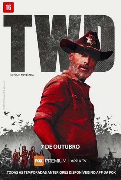 "Fox Premium apresenta arte oficial da nona temporada de \""The Walking Dead\"""