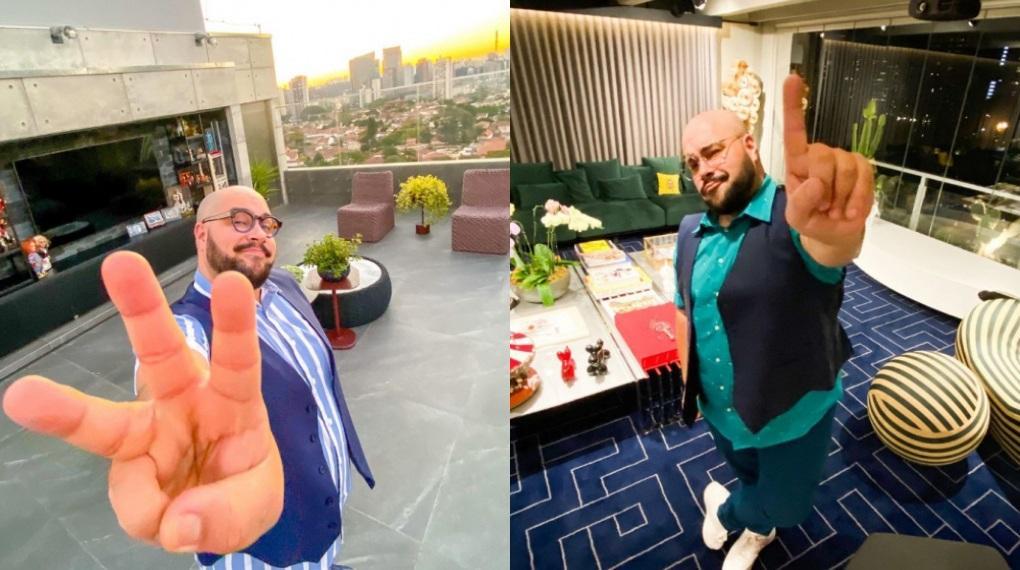 Tiago Abravanel mostrou detalhes de sua luxuosa cobertura em vídeos para o Instagram