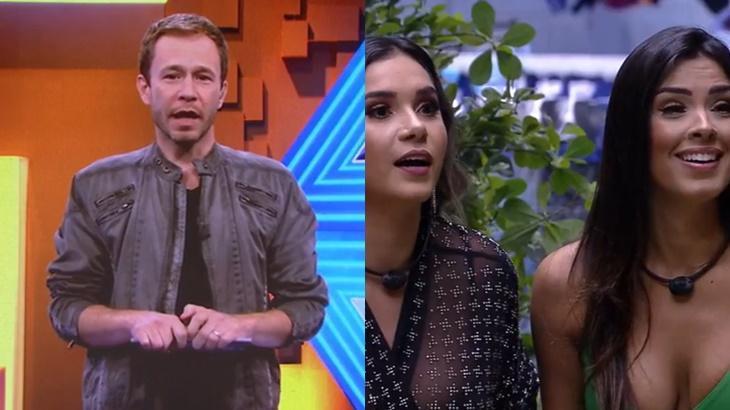 Tiago Leifert, Gizelly e Ivy no reality show BBB20