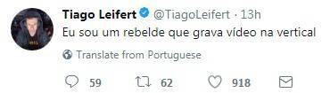 Tiago Leifert ironiza nova campanha da Globo e irrita direção, diz revista