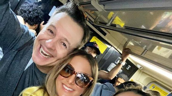 Celso Zucatelli e Ticiane Pinheiro