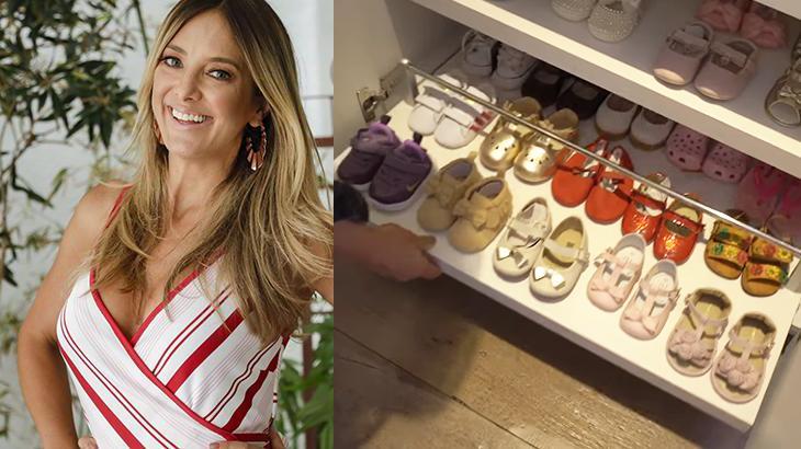 Ticiane Pinheiro com sapatos