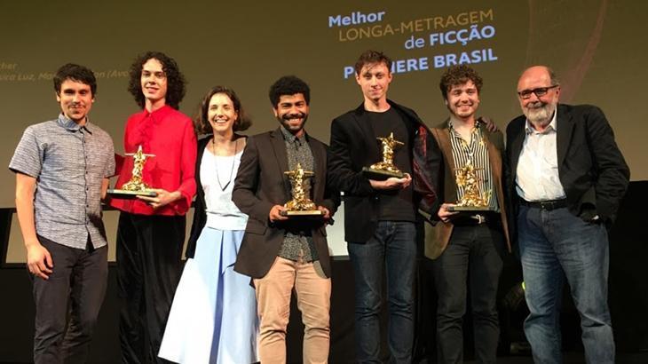 Elenco de Tinta Bruta no Festival Internacional de Cinema do Rio