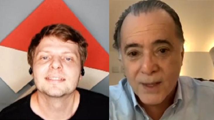Tony Ramos em live com Marcos Michalak