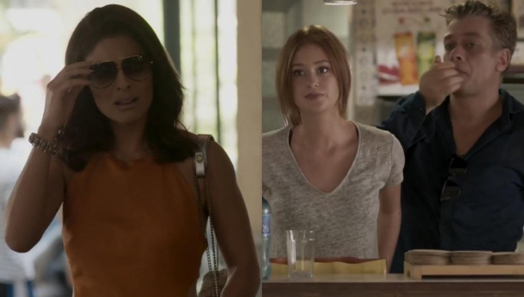 Juliana Paes, Marina Ruy Barbosa e Fábio Assunção em cena da novela Totalmente Demais