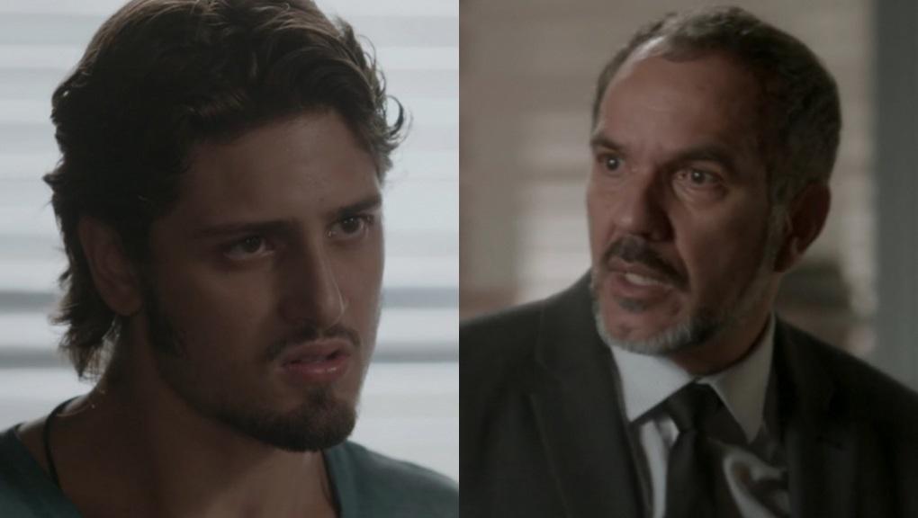 Daniel Rocha e Humberto Martins como Rafael e Germano em cena de Totalmente Demais