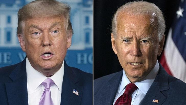 Donald Trump e Joe Biden em montagem