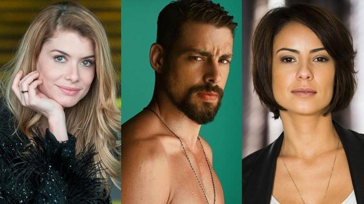 Alline Moraes, Cauã Reymond e Andreia Horta