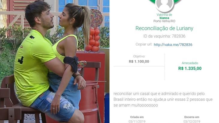 Fã faz vaquinha para salvar namoro de casal no reality show A Fazenda 2019