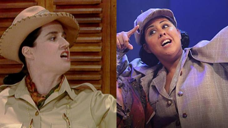Vera Holtz em Vamp e Evelyn Castro em musical da novela