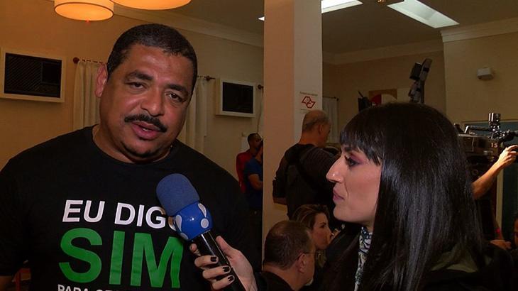 Vampeta fala com repórter da RedeTV!