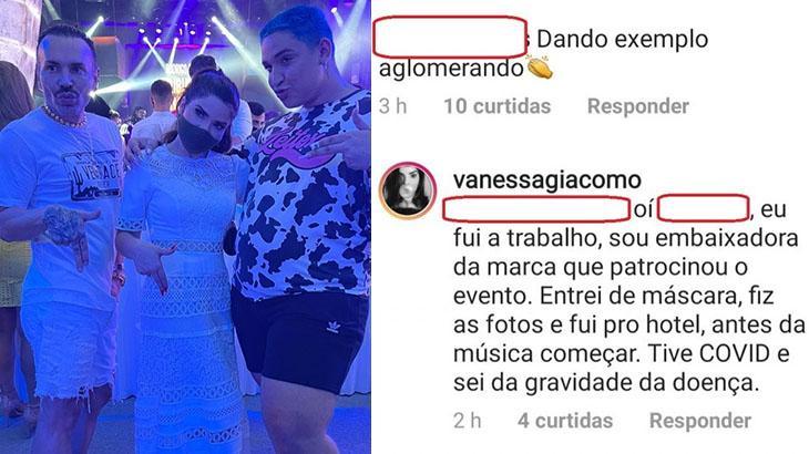 Vanessa Giácomo diz que foi a festa de Carlinhos Maia a trabalho