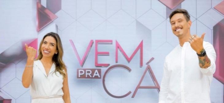 Patricia Abravanel mostra cenário do Vem Pra Cá e ironiza Ana Maria Braga