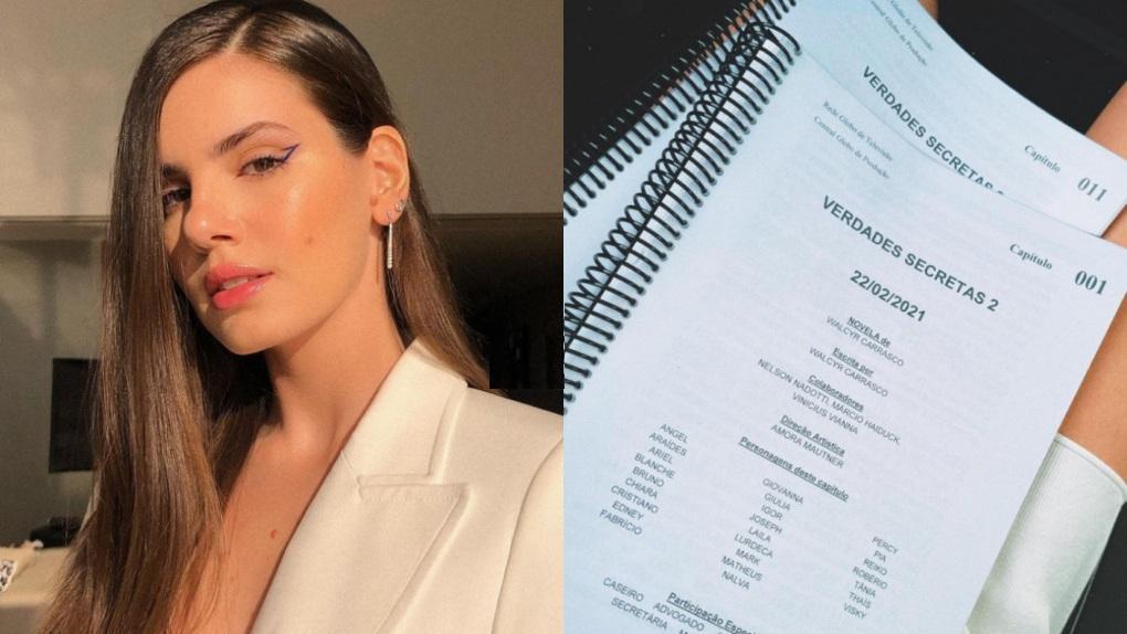 Camila Queiroz exibe roteiros de Verdades Secretas 2 no Instagram