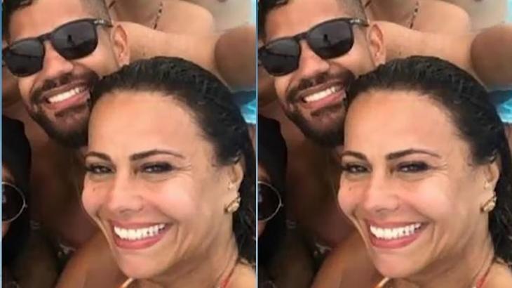 Viviane Araújo assume namoro e passa Réveillon com vizinho 13 anos mais jovem