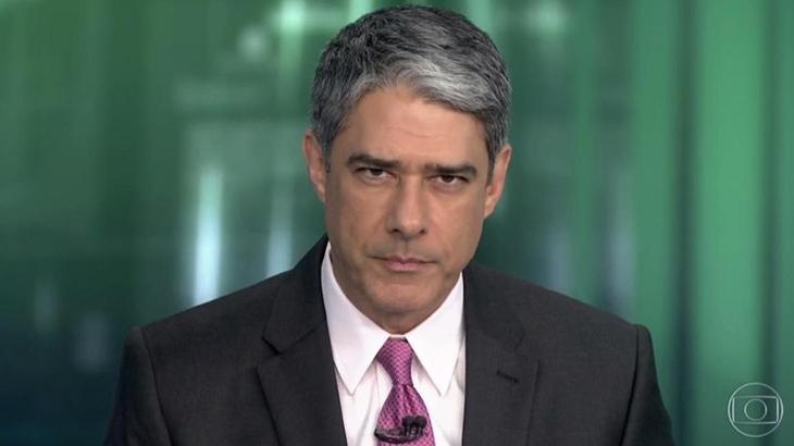 William Bonner apresentando o Jornal Nacional