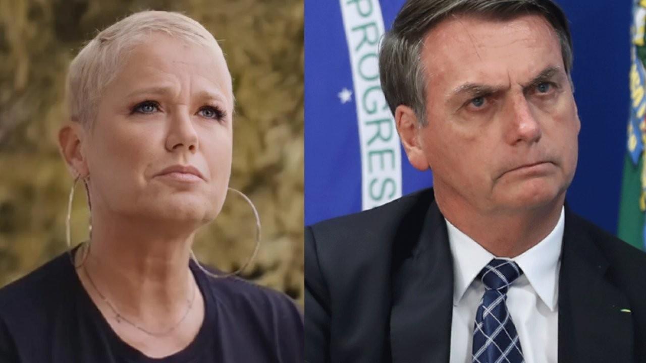 Xuxa e Bolsonaro, em tela dividida