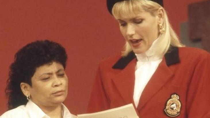 Xuxa e Marlene Mattos trabalhando juntas