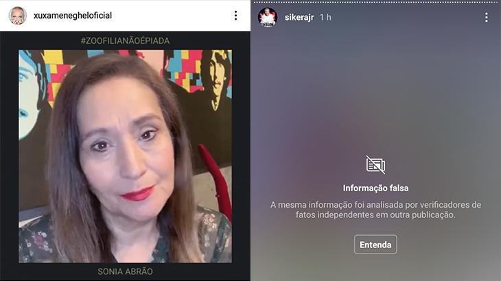 Sonia Abrão apoia campanha de Xuxa contra Sikêra Jr; apresentador tem post banido