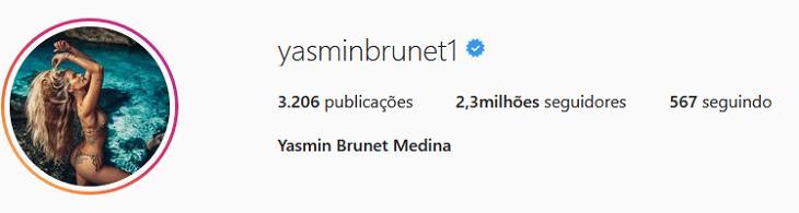 Yasmin Brunet passa a usar sobrenome de Gabriel Medina