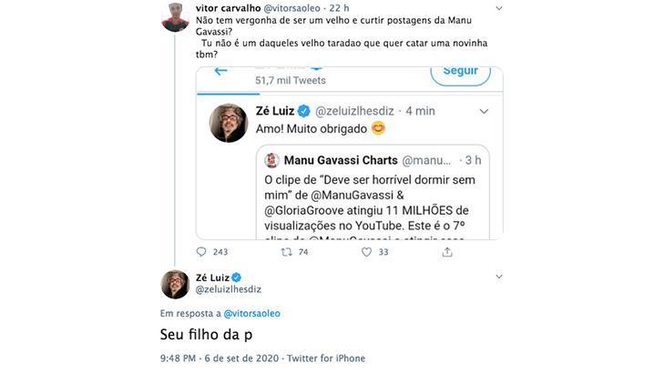 """Bolsonarista chama pai de Manu Gavassi de \""""velho tarado\"""" por elogiar filha"""