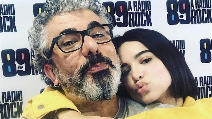O radialista Zé Luiz com a filha, Manu Gavassi